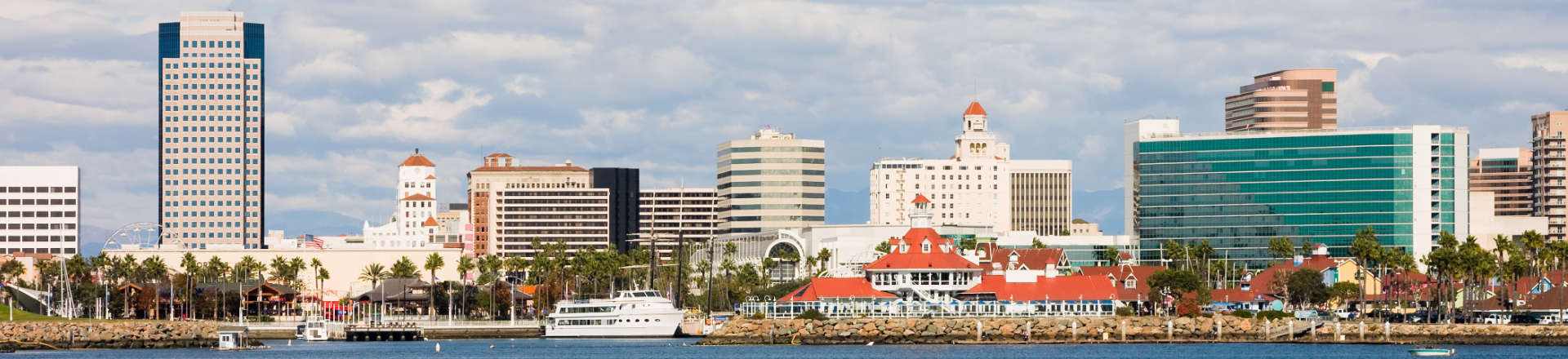 panoramic view of Long Beach, CA