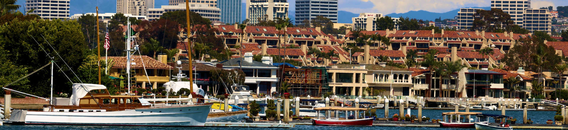 view of the marina in Orange County