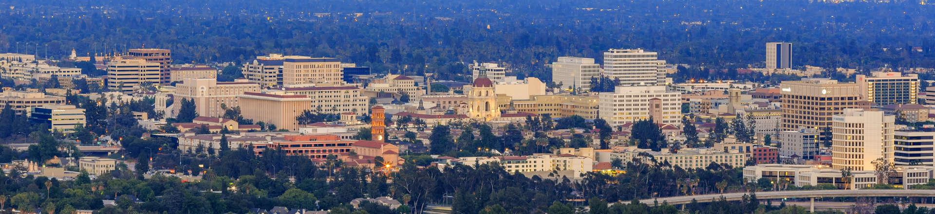 panoramic view of Pasadena, CA