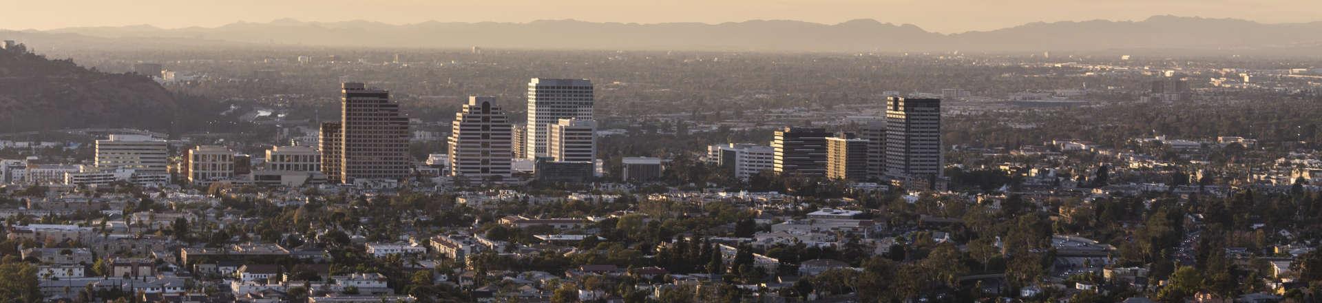 panoramic view of Glendale, CA