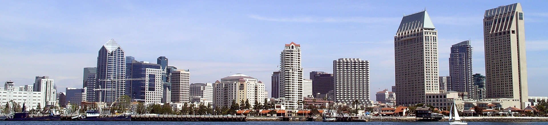 panoramic view of San Diego, CA