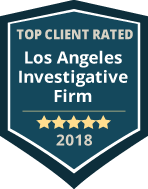 TOP CLIENTS RATED Los Angeles Investigative Firm 2018 badge