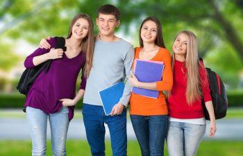 Teenagers at School Yard Los Angeles, CA